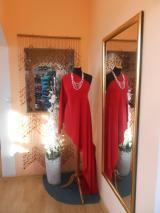 kostýmovka splývavá,elastická,červená-Efes