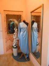 satén elastický sv.modrý