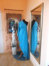 kostýmovka splývavá,elastická,tyrkys do zelena-Efes