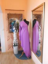 kostýmovka splývavá,elastická,růžovofialová-Efes