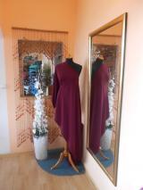 kostýmovka splývavá,elastická,bordo-Efes