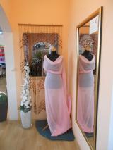 šifon s leskem růžový